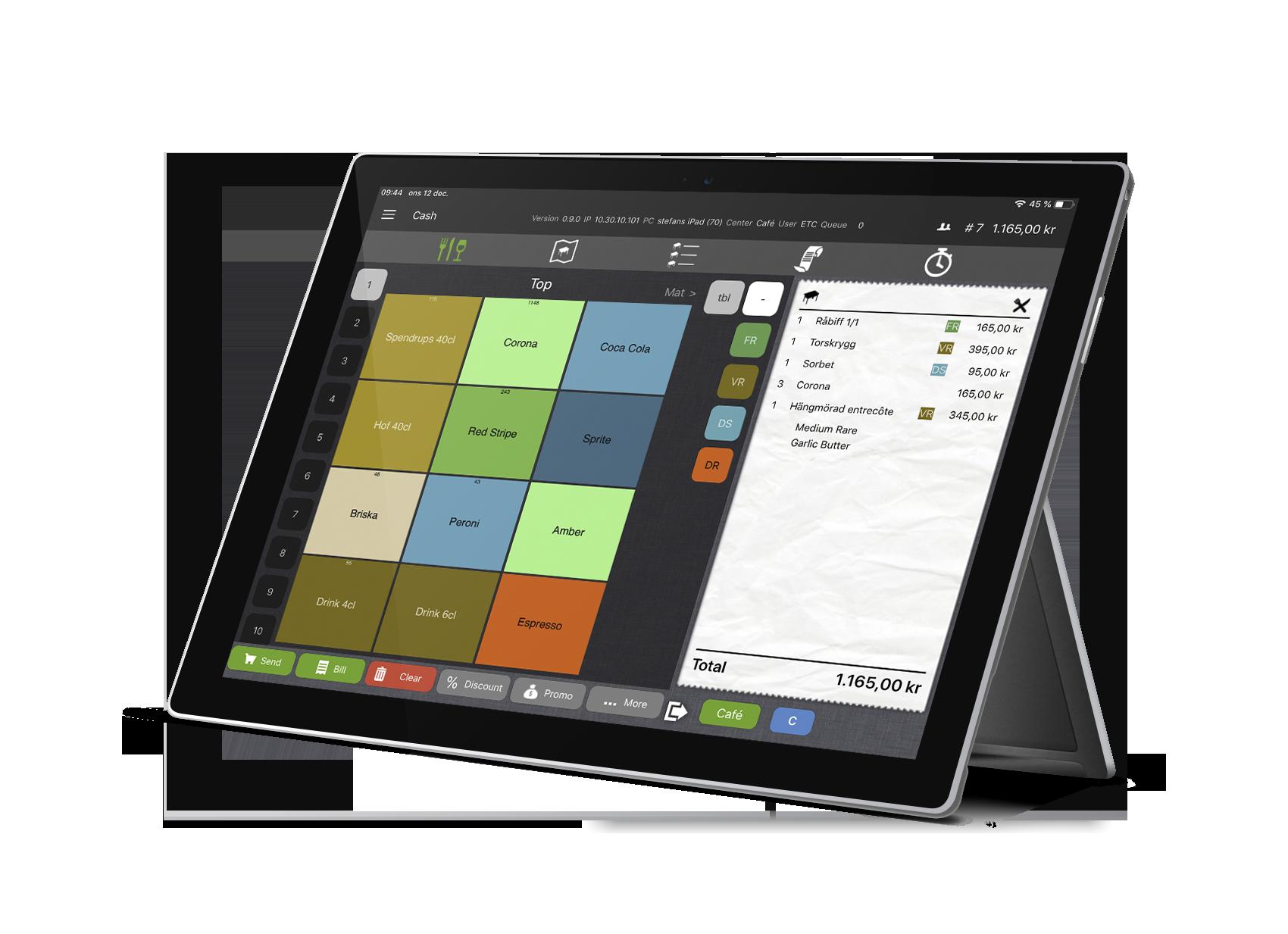 Trivec Go a mobile POS system