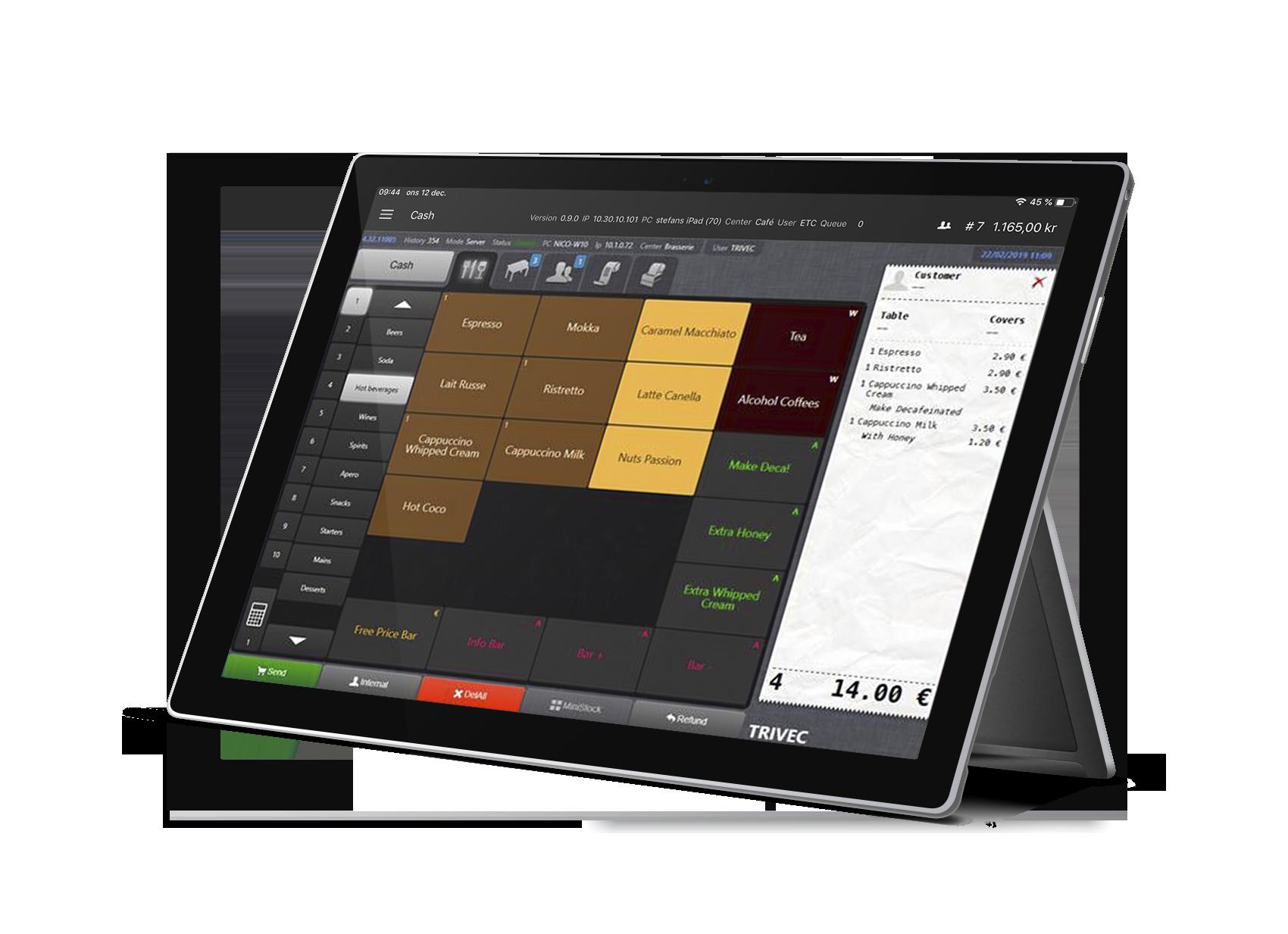 Trivec Go - mobile POS systems for restaurants