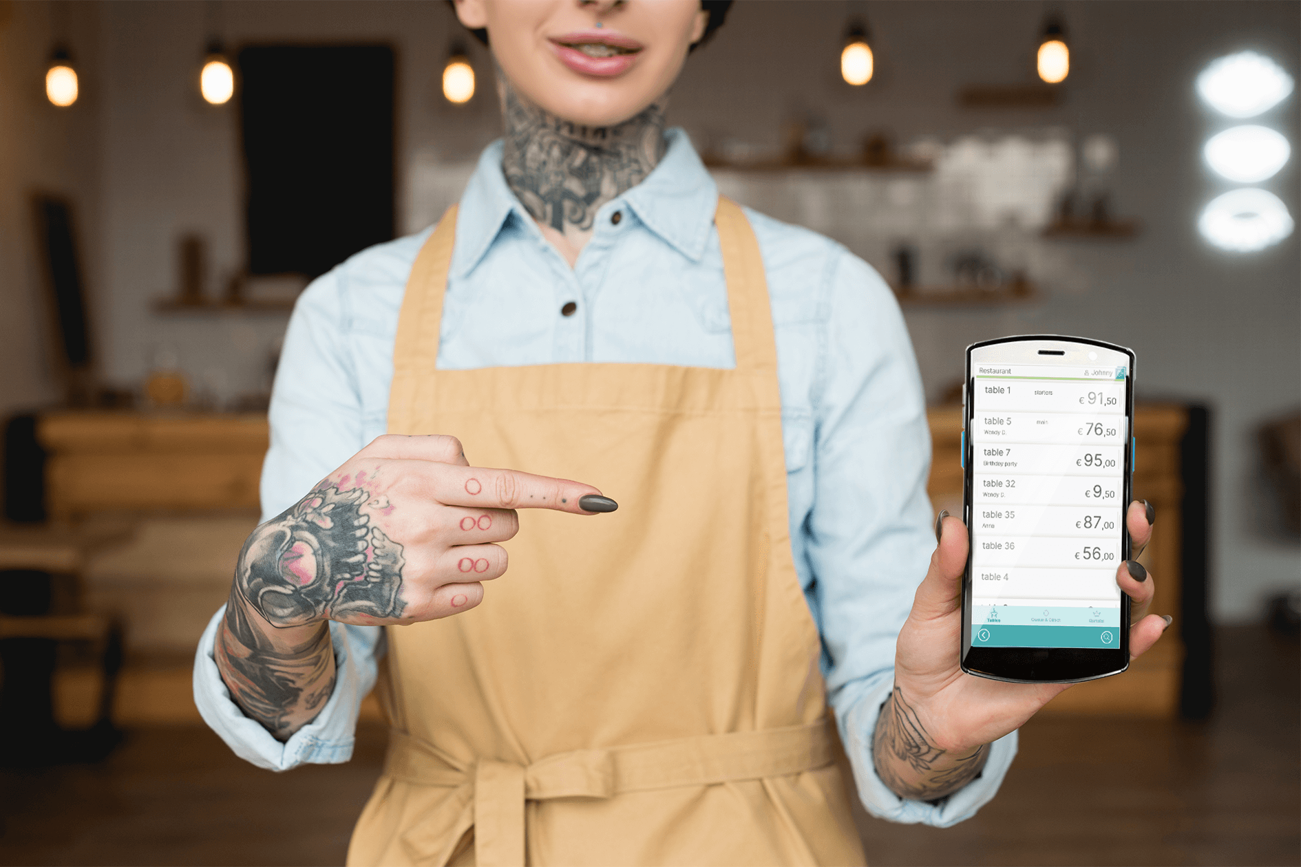 Tableside ordering