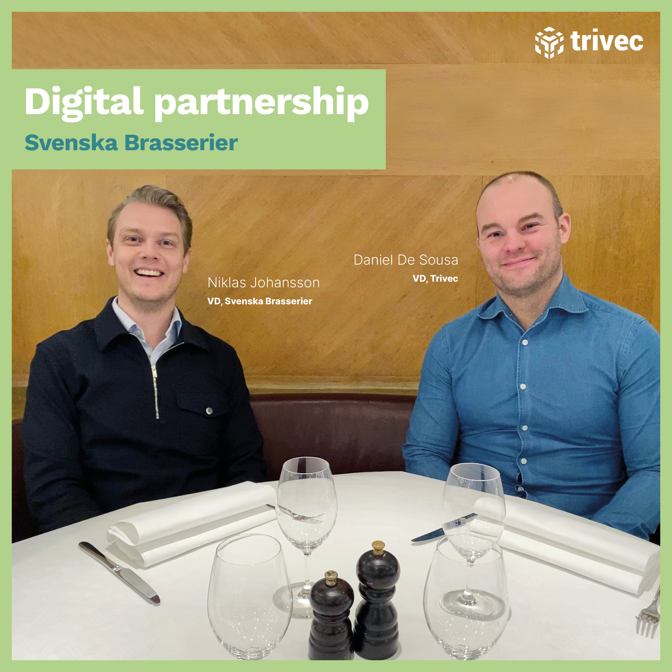 Trivec and Svenska Brasserier digital partnership