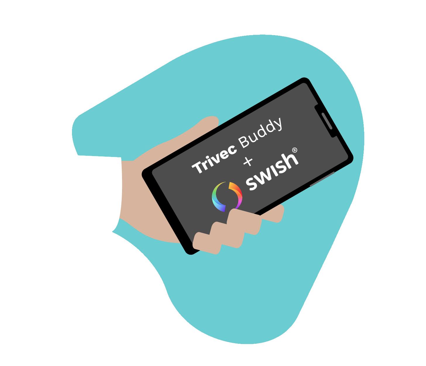Trivec Buddy supports Swish